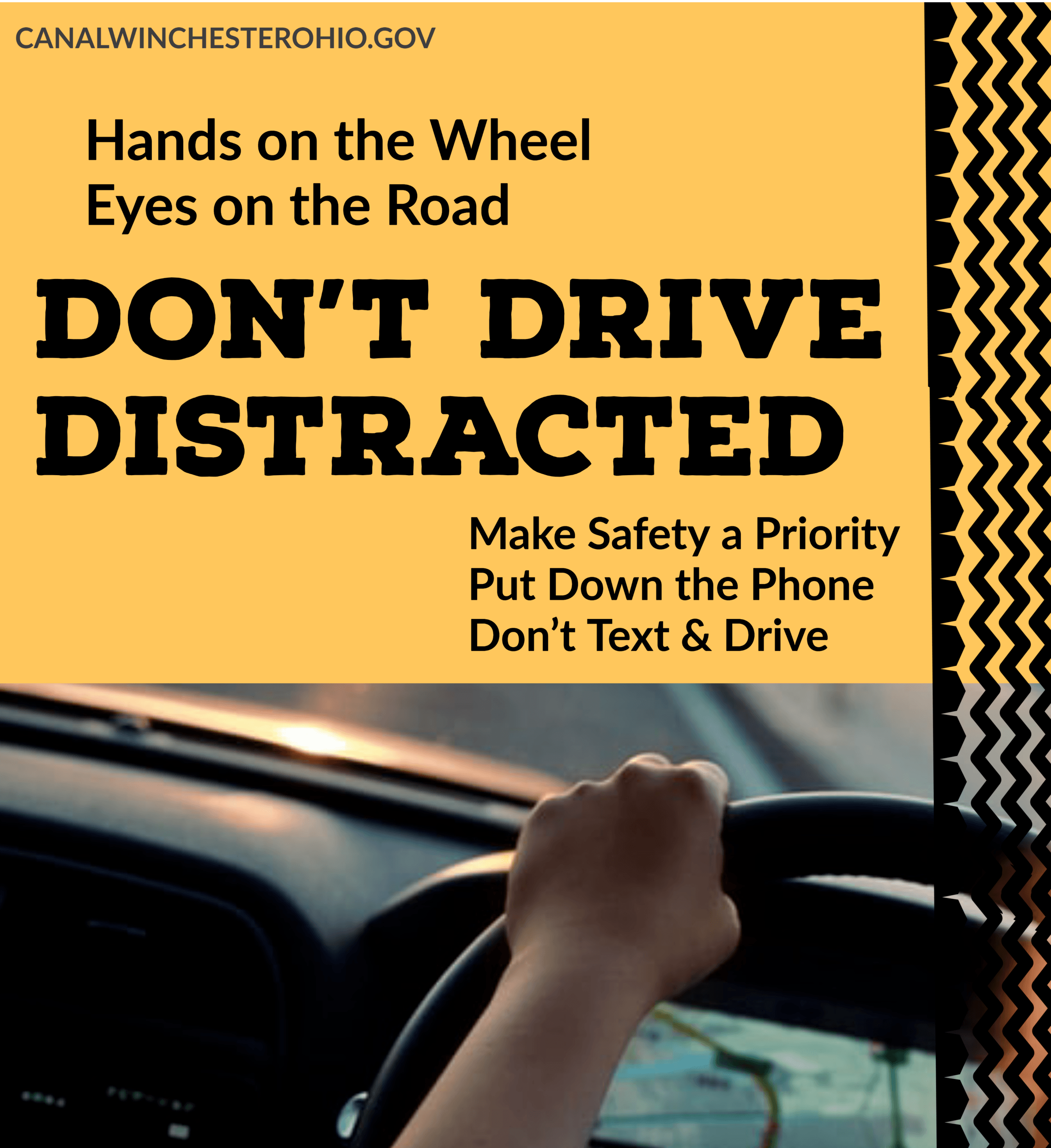 no distracted driving promo image